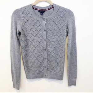 NWT Tommy Hilfiger Gray Button Cardigan Sweater XS